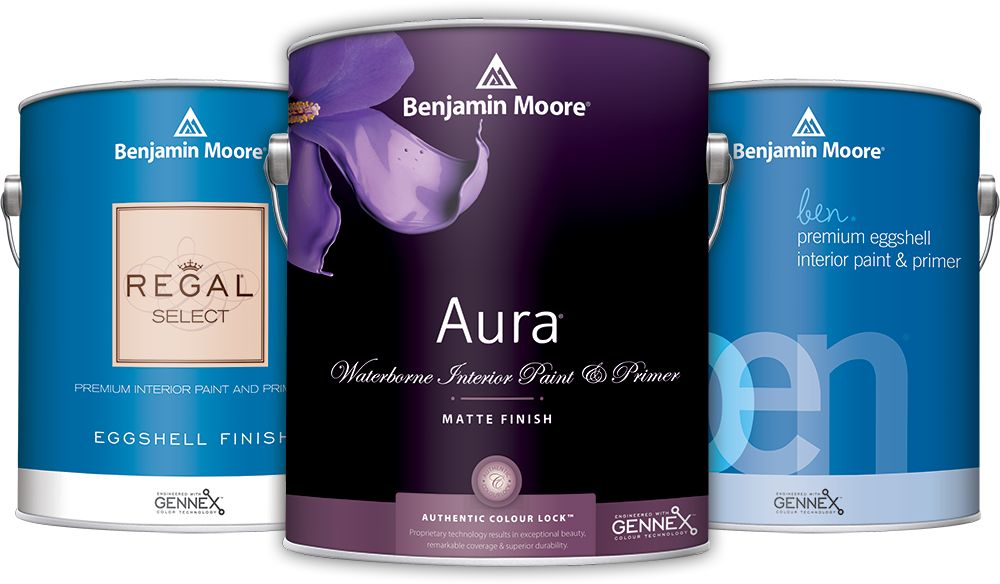 Benjamin Moore Paint Cans - Aura, Regal, Ben